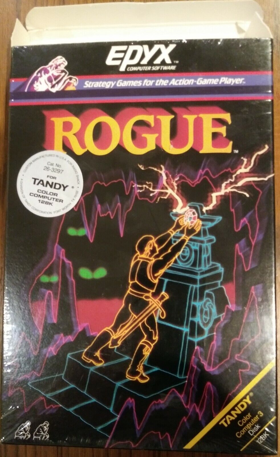 """Computer Games - Rogue Tandy Color Computer 3 Game 5.25"""" Floppy Big Box near mint Free Shipping"""