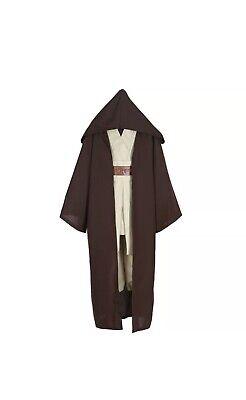 Adult Star Wars Obi-Wan Kenobi Jedi Cosplay Cloak Costume Complete Suit Size L
