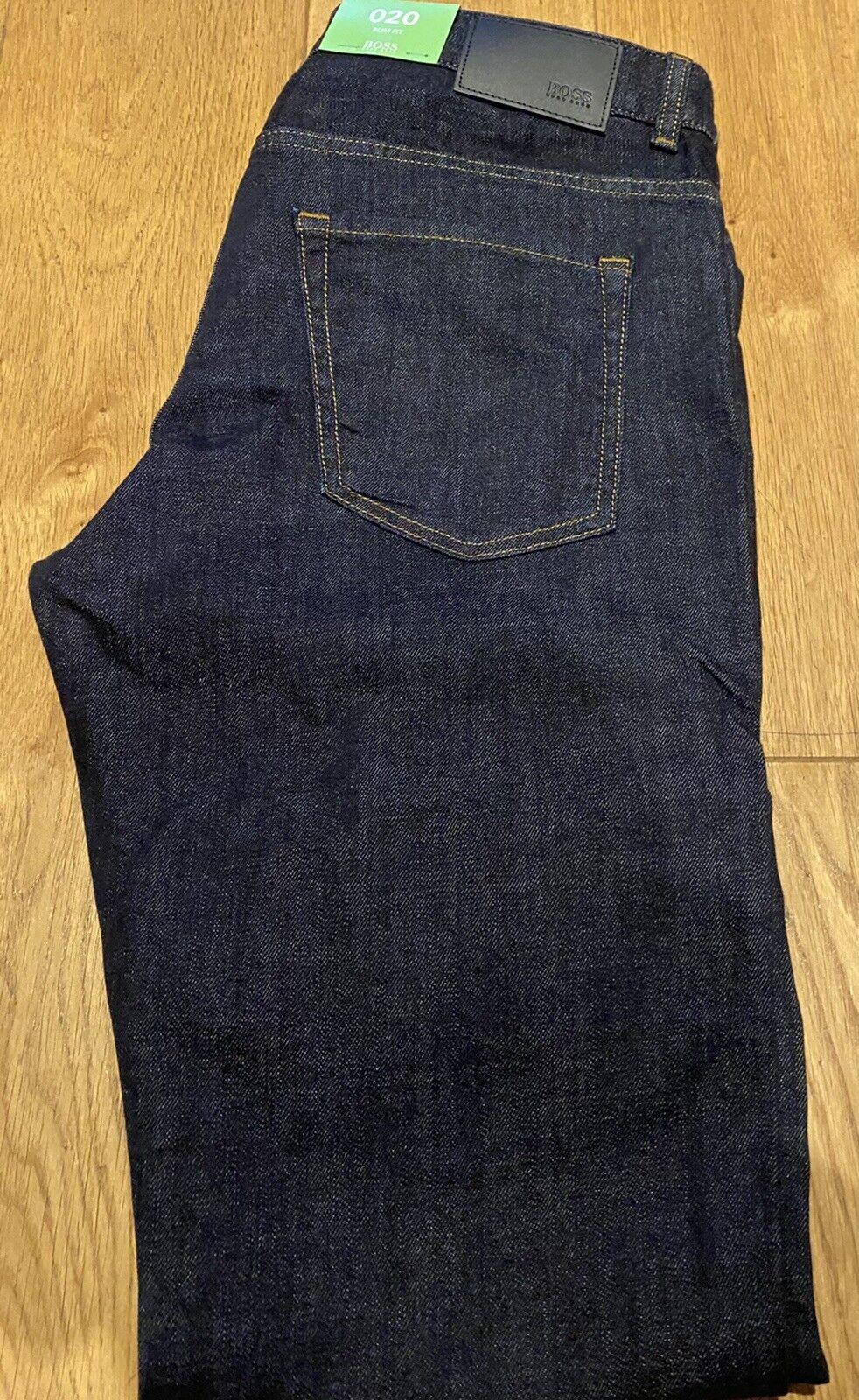 Hugo Boss JC. Delaware 1  Slim Fit Hose Blau Jeans  W 34 L 34 NEU UVP 159€