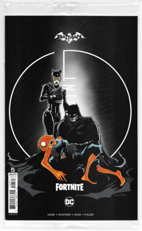 Batman Fortnite Zero Point #5 Mustard Variant Sealed with Code (DC, 2021) NM