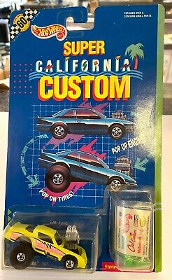 Hot Wheels Tubular Turbo Super California Custom Yellow 1991 On Card
