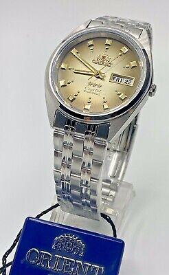 Genuine  Orient Men's  Automatic Silver Watch W/ Box  FAB00009P