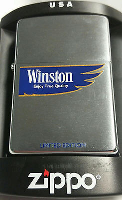 Zippo Winston Limited Edition 2006 new in box Rare Blue Vintage RJR