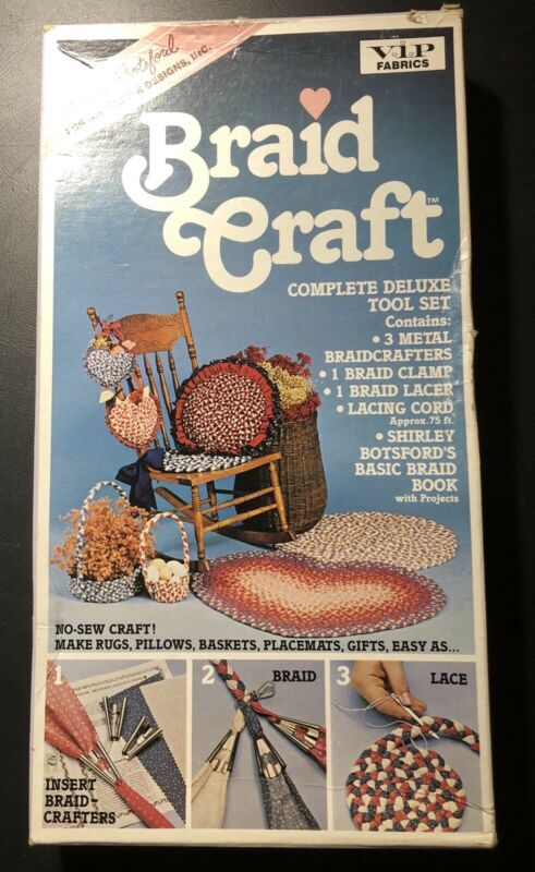 Vintage Shirley Botsford Braid Craft Complete Deluxe Tool Set For Braiding NIP