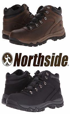 Northside Men's Apex Waterproof Hiking Trail Boots Brown Black - Brown Waterproof Hiking Boots