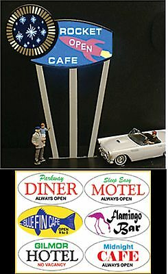 Miller's Multi Graphic Interchangeable Animated Neon Sign O/ho Scale 7181