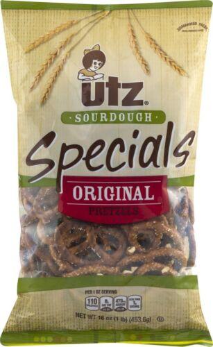 Utz Sourdough Specials Original Pretzels 16 oz. Bag (4 Bags)