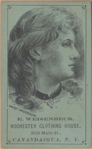 Victorian Trade Card-Rochester Clothing-Weisenbeck-Canandaigua, NY-Mary Anderson