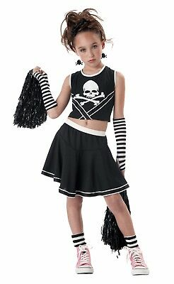 Punk Rock Cheerleader Toxic Skull Child Costume  - Baby Punk Costume