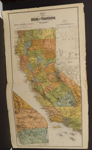 California State Map Dbl Pg 1892  !W12#73