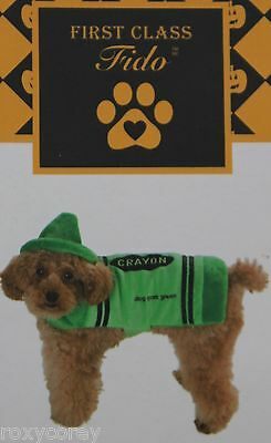Dog Park Green Crayon Dog Pet Costume Size Small 11-13 in NWT