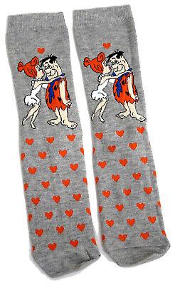 Damen The Flintstones Fred und Wilma Kiss Socken Eur 37-42 Fred Wilma Flintstones
