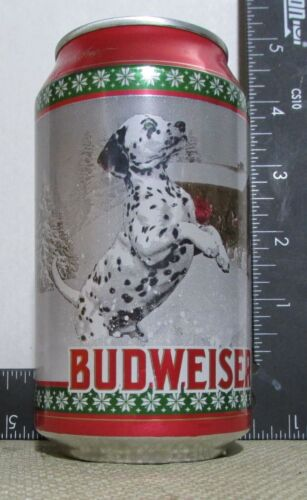 CHRISTMAS 2020 Budweiser LIMITED empty 12oz beer can DALMATION holiday 4 of 4