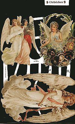 # GLANZBILDER # EF 7099, 3 große Engel, wunderschön !