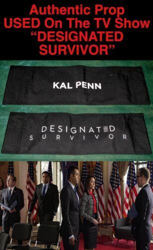 "Rare KAL PENN ""DESIGNATED SURVIVOR"" Authentic CHAIR BACK PROP B Used by KAL PENN"
