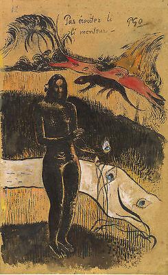 Gauguin Drawings: Nave Nave Fenua - Fine Art Print