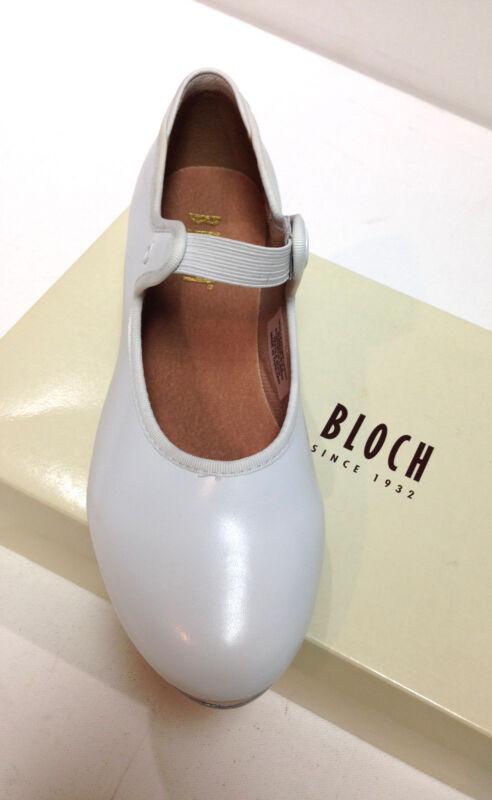 Bloch, Annie Tyette Girls Tap Shoes White Size 1 Medium No Ribbon Ties S0350G