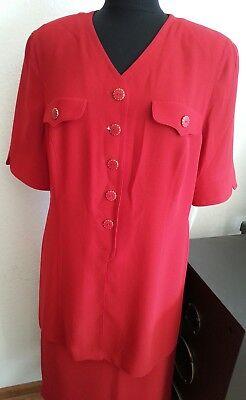 Schneberger Designer- Sommer Kostüm Zwei Teile, Gr. 44, Rot