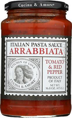 Cucina & Amore-Arrabbiata Italian Pasta Sauce - Tomato And Red Pepper, Pack -