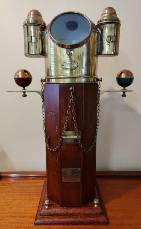 "Vintage Kelvin & Hughes ""Salesman Sample"" Marine Binnacle And Compass"