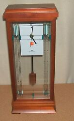 Frank Lloyd Wright Mantel Clock, Model 1839B, by Bulova, Willetts House