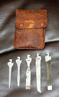 Vintage Pocket Knife Tool Kit TOOLS & CASE ONLY/Henry Boker/D.R.G.M.