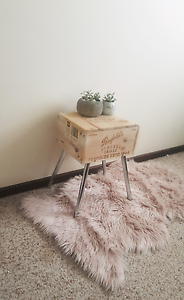Upcycled Wine Crate Side Table Scandinavian Inspired Joondanna Stirling Area Preview