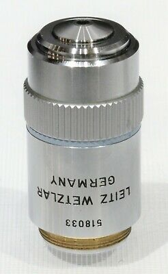Leitz Wetzlar Objective 40x 0.65 Plan 160 0.17 No. 518033 Laborlux