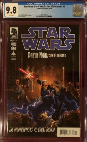 Star Wars Darth Maul Son of Dathomir #2 CGC 9.8 NMMT June 2014