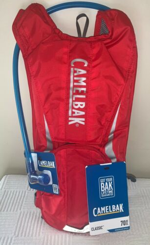CamelBak Classic 70oz/2L Hydration Backpack Racing Red *NEW* Cycling Hiking