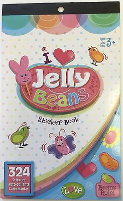 324 I Love Jelly Beans Easter Bunny Stickers Party Favors Teacher Supply Chick