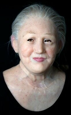 """Grandmother"" Silicone Mask Halloween Hand Made Realistic High Quality,"