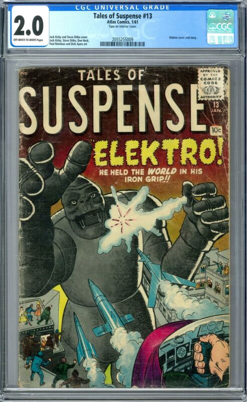Tales of Suspense #13 CGC 2.0 (OW-W) Elektro Cover and Story.