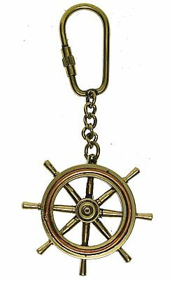Key Chain Steering Wheel, Solid Brass