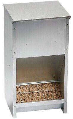 Galvanized Steel High 25 Pound Capacity Poultry Chicken Feeder Wall Mount 171267
