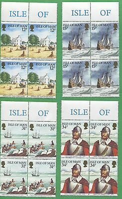 10 Sets of 1986 Isle of Man Stamps # 308 - 311 Cat Value $38 Settling Plymouth