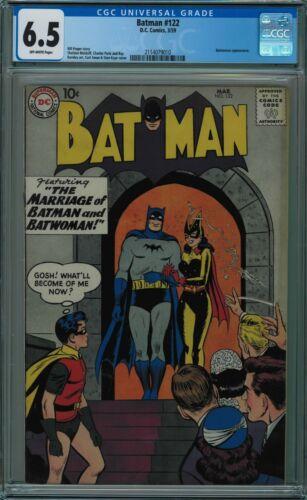 BATMAN #122 CGC 6.5 BATWOMAN APPEARANCE OFF-WHITE PAGES 1959