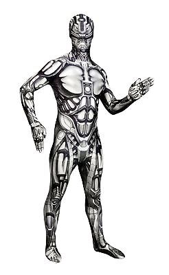 """Android Morphsuit (Android Morphsuit Monster Fancy Dress Costume - size Xlarge - 5""""10-6""""1)"""
