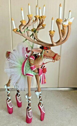 """Patience Brewster Krinkles Dash Away Dancer Ballet 12"""" Reindeer Figure Large"""