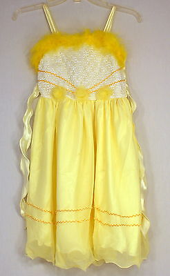 ABC Fashion Girls Formal Long Yellow Dress Size 12