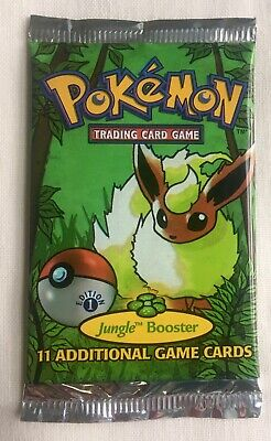 1999 Pokemon 1st Edition Jungle Booster Pack Flareon Art Factory Sealed