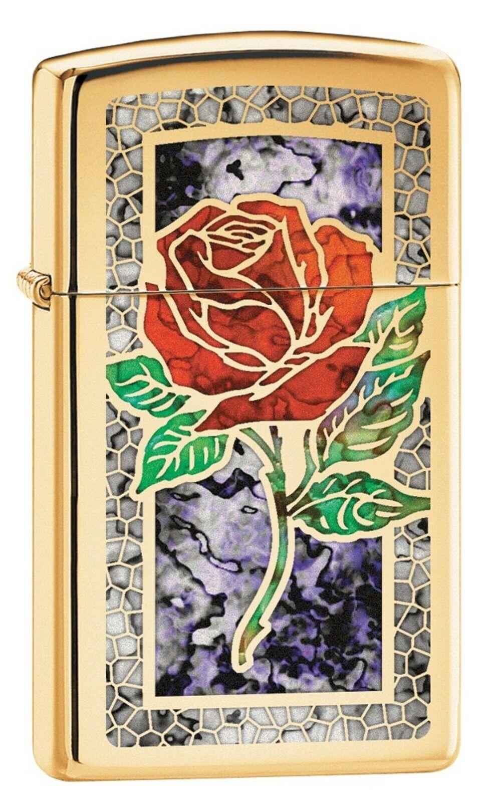 lighter slim fusion rose high polish brass