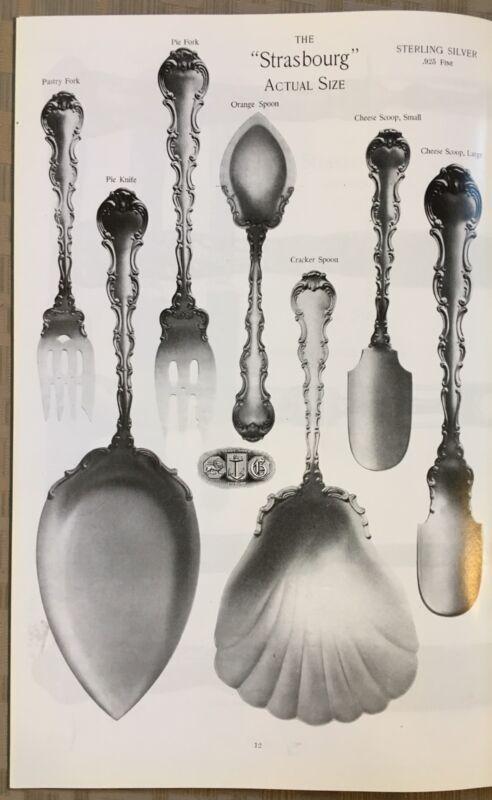 1898 Gorham Strasbourg Sterling Silver Catalog Reprint 27 Pages Flatware
