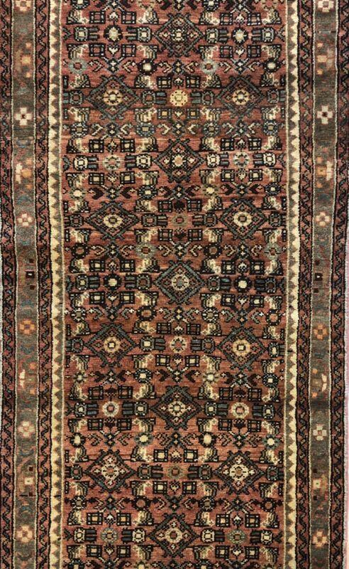 Handsome Herati - 1930s Antique Oriental Rug - Tribal Runner - 2.9 X 13 Ft.