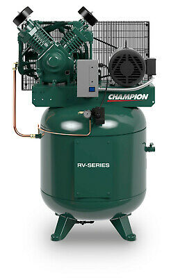 7.5 Hp 230-1 Ph 80 Gallon Vertical Air Compressor Fully Packaged 25.8 Cfm