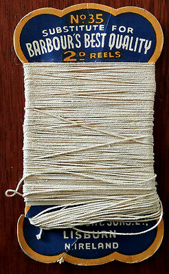 No.35 Substitute for Barbour's Best Quality 2D Reels, Wm. Babour & Sons Linen Th