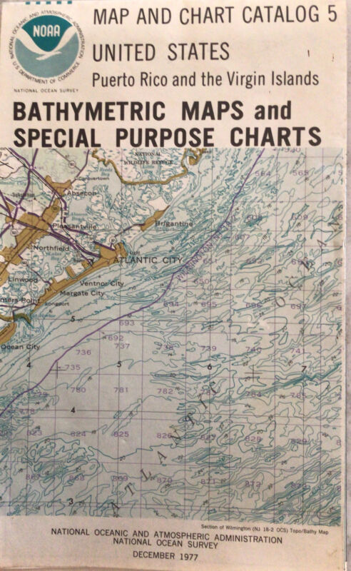 Vintage NOAA Map And Chart Catalog 5 Bathymetric And Special Purpose Maps 1977