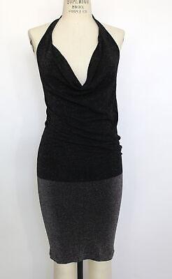New Free People Intimately Womens Sleeveless Cowl Neck Halter Sparkle Dress $68 Sleeveless Cowl Neck Dress