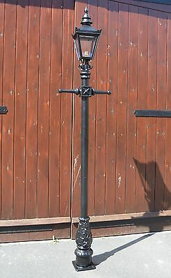 Ex Outdoor Lights - USED Ex-Display 2.2m Victorian Lamp Post + Lantern Reclaimed Garden Lighting Set