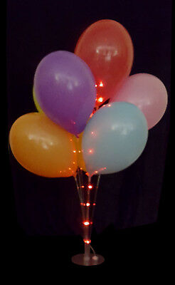 Balloon Cup And Stick Display Stand With LED Lights For Table Centre - Balloons With Lights